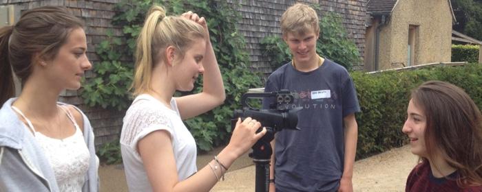 Teens filmmaking