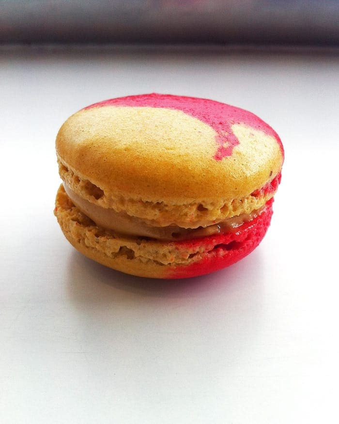 Close-up of Peanut Butter Macaron