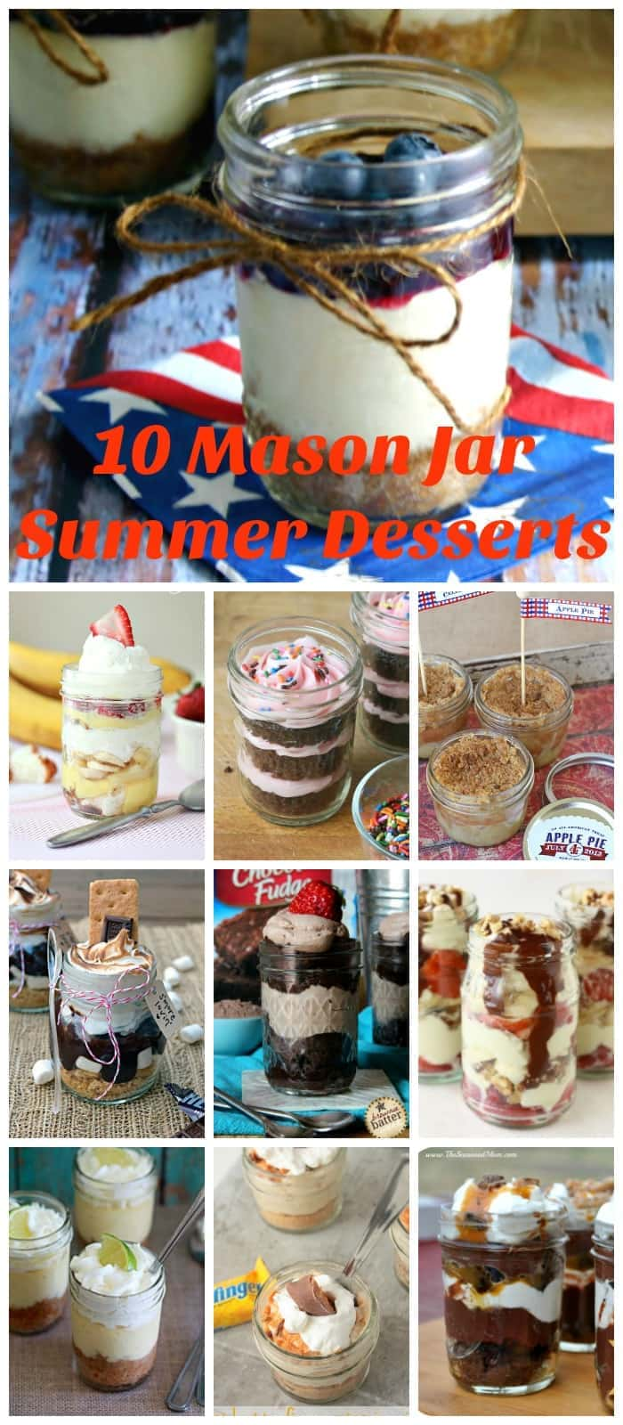 10 Mason Jar Summer Desserts | Life, Love, and Good Food