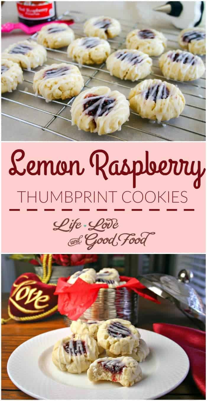 Lemon Raspberry Thumbprint Cookies | Life, Love, and Good Food