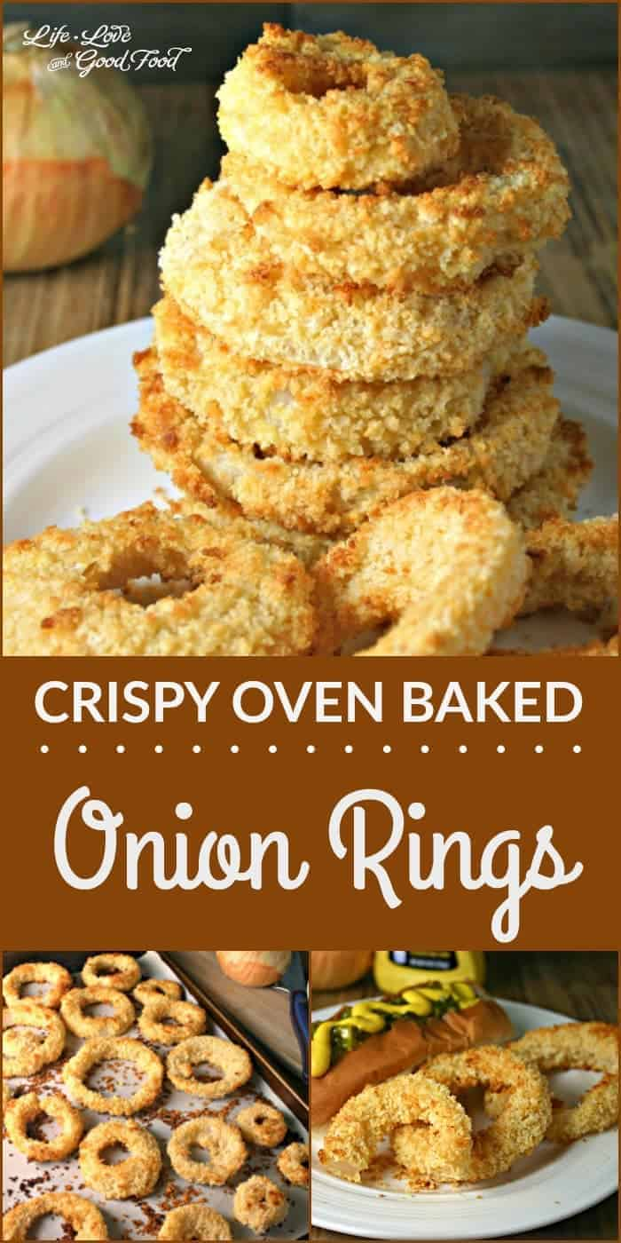 Healthier onion rings that are tender on the inside and nicely crisp on the outside without frying!