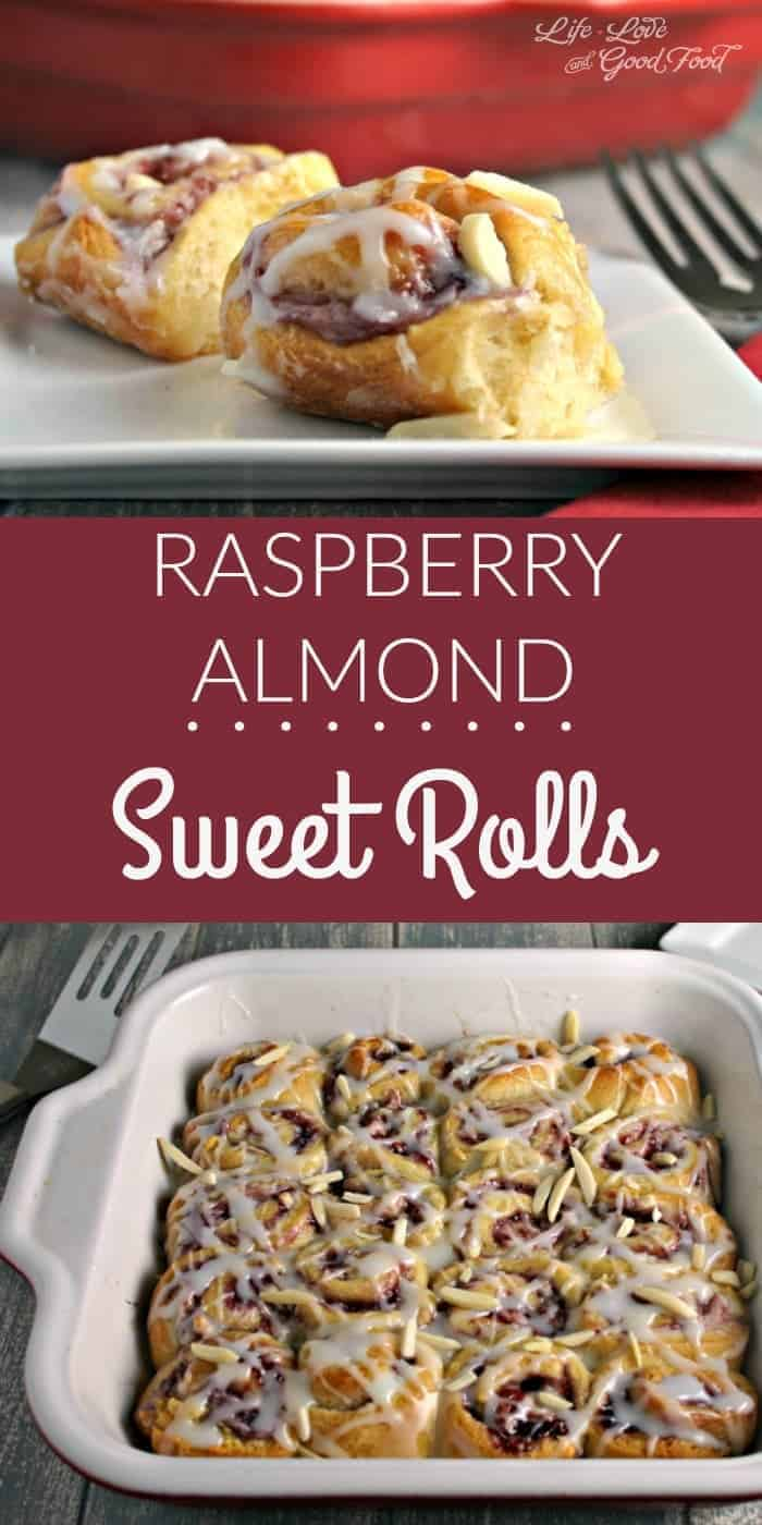 Raspberry Almond Sweet Rolls, with a sweet almond cream cheese and raspberry filling, are sure to become a favorite brunch pastry.