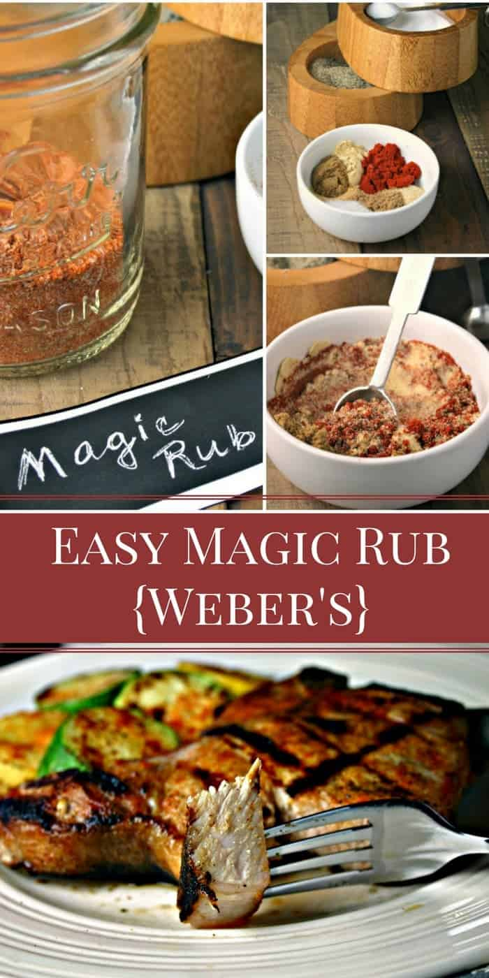Summer suppers just got a lot easier with this EASY Magic Rub for Grilled Chops and Veggies.