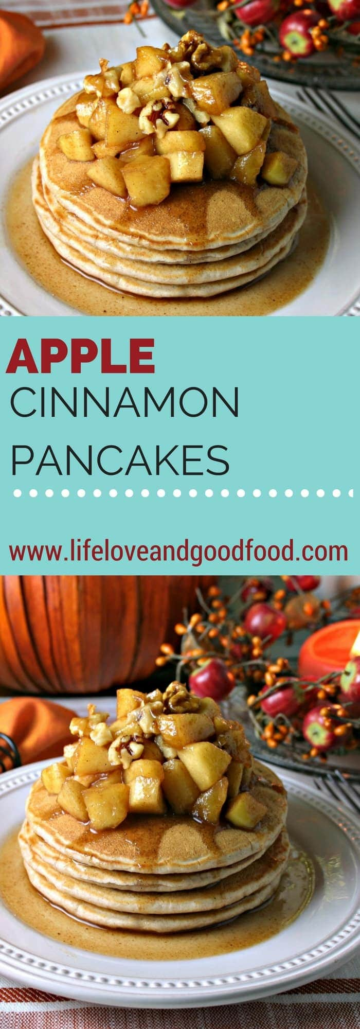 Apple Cinnamon Pancakes | lifeloveandgoodfood.com