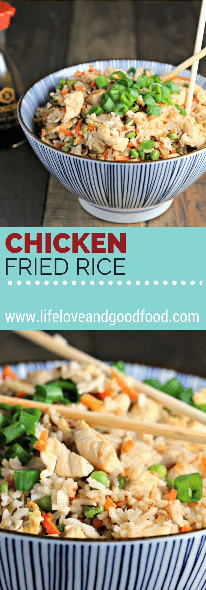 "Make Chicken Fried Rice at home that's as good as Chinese take-out! It's easy and delicious when you know about the ""secret"" ingredient."