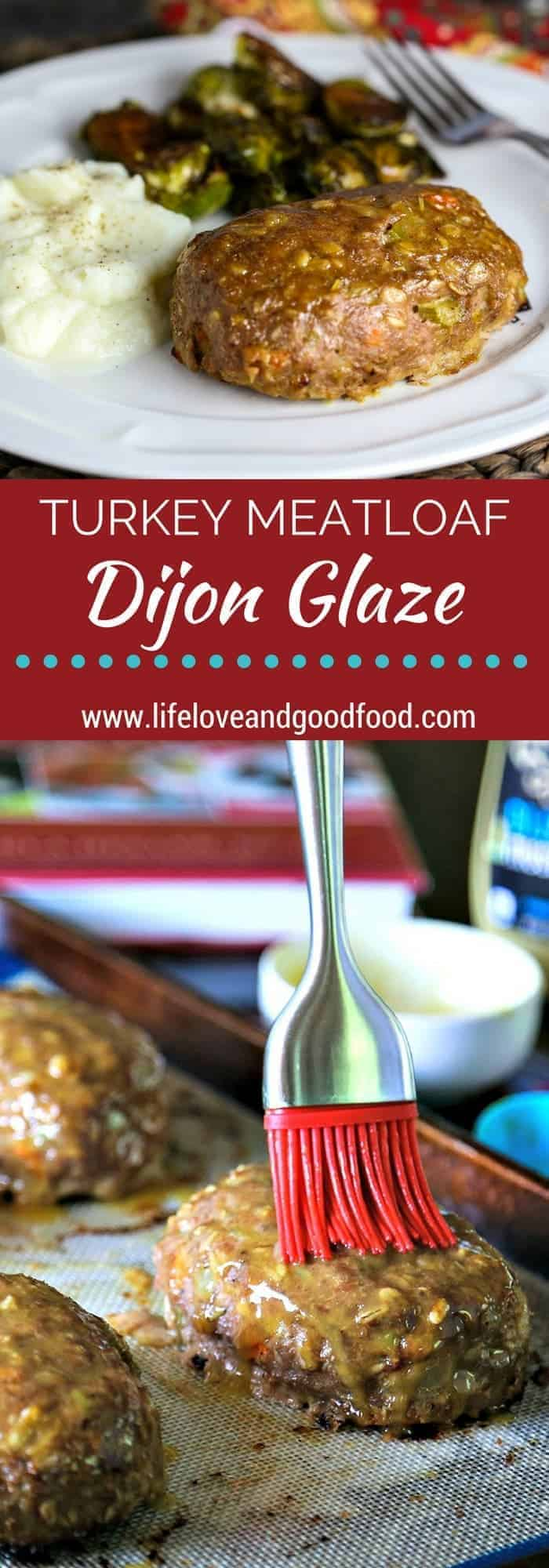 Try this lighter and healthier turkey meatloaf with its sweet and tangy honey Dijon glaze and you may never go back to Grandma's traditional recipe!