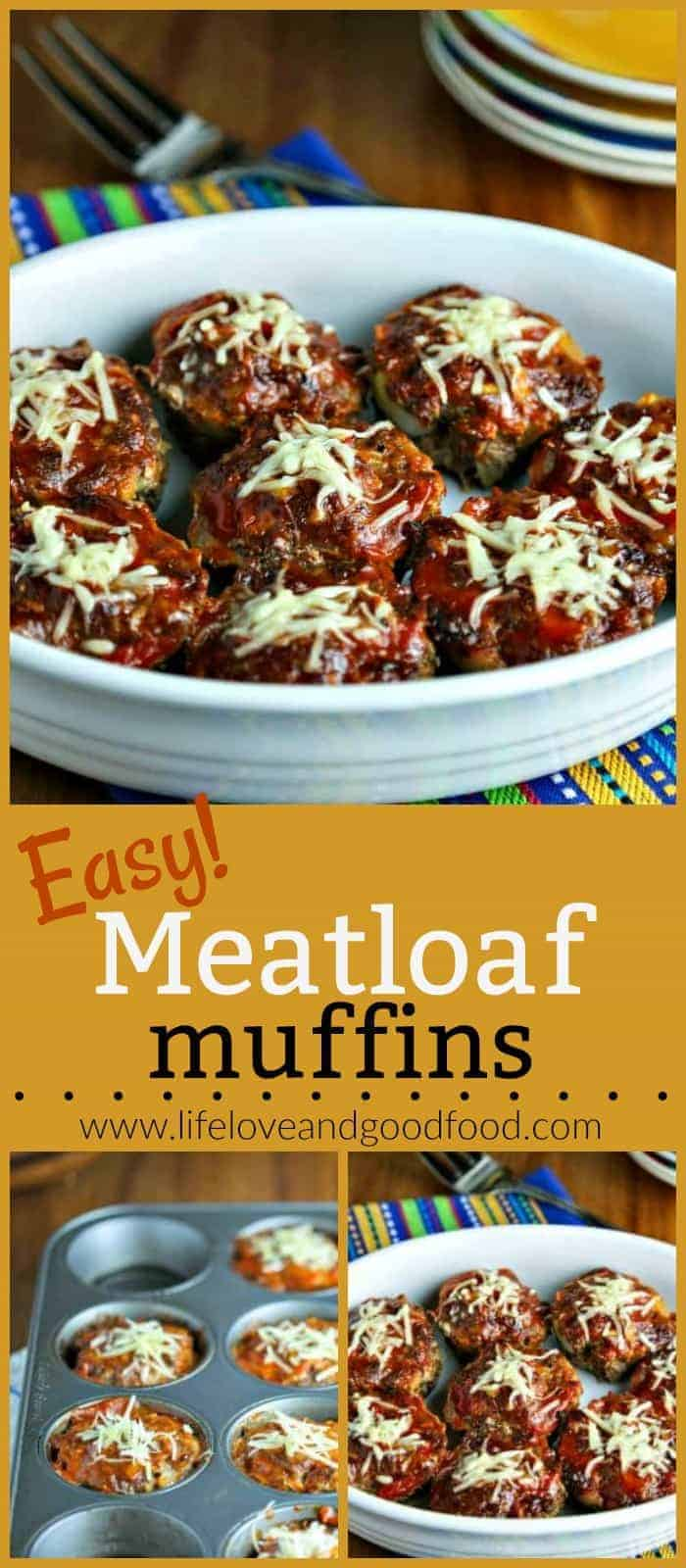 Down-home comfort food gets a healthy makeover in these lean Easy Meatloaf Muffins #dinner #easyrecipe #meatloaf