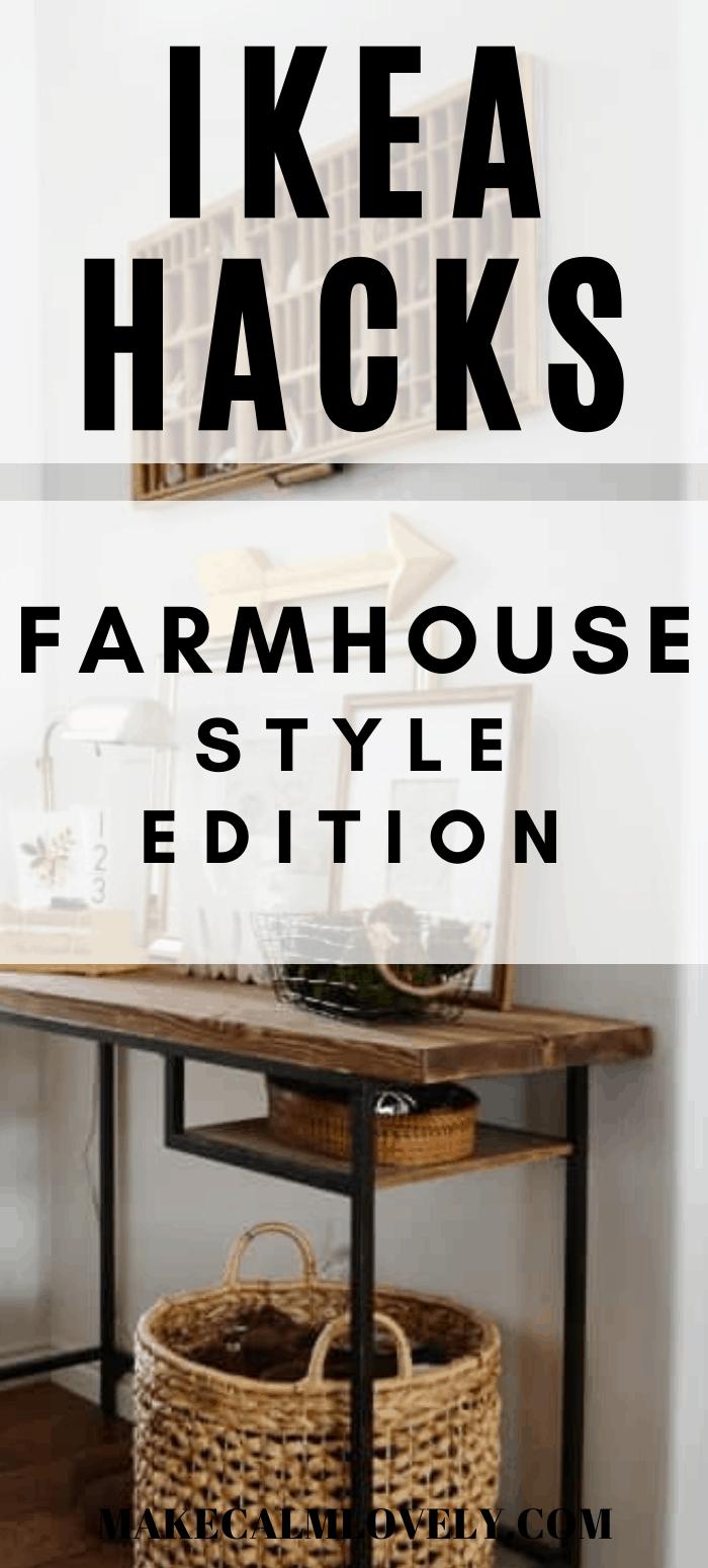 IKEA Hacks Farmhouse Style edition