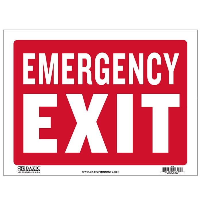 Cheap plastic emergency exit sign