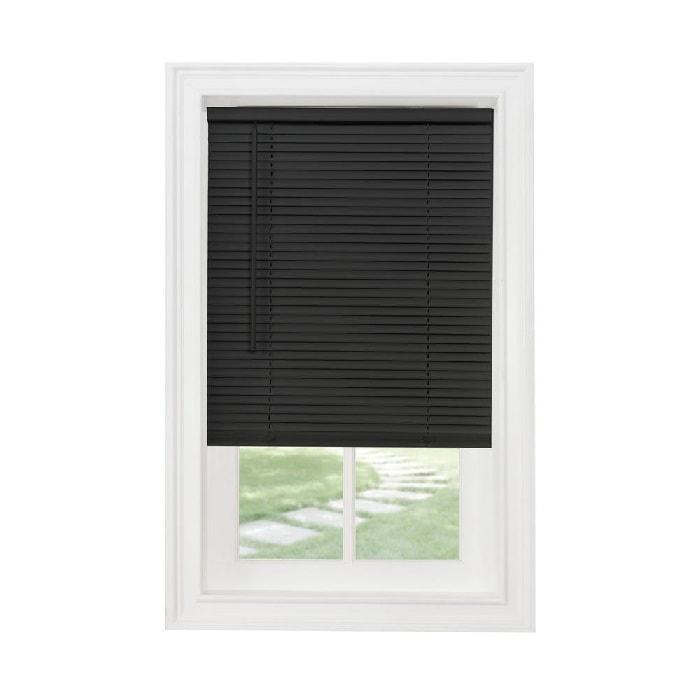 black mini blinds-vinyl-cordless