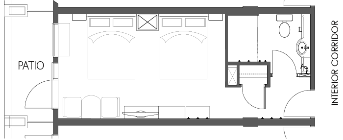 Floor Plan - Superior Room with 2 Queen Beds