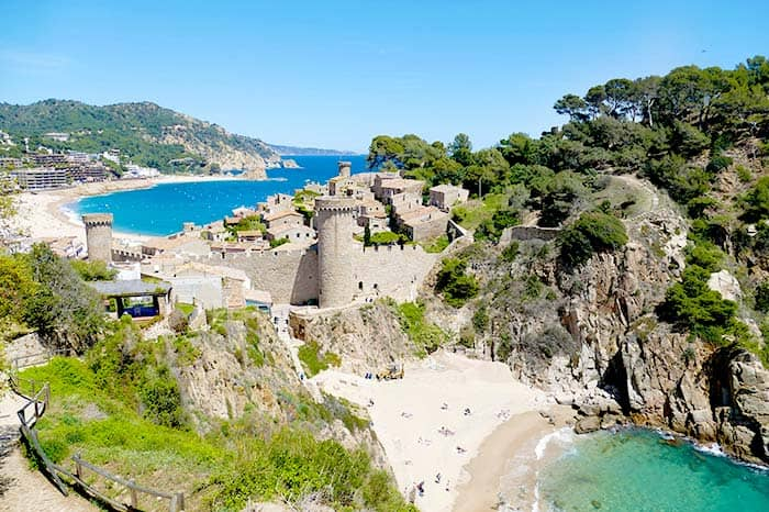 Tossa de Mar, one of the most beautiful villages at Costa Brava