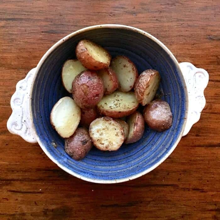 Oven Browned Potatoes, simple goodness.