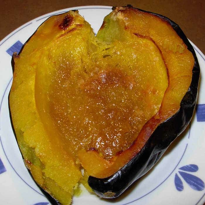 Acorn Squash with Brown Sugar and Butter. Absolutely yummy.