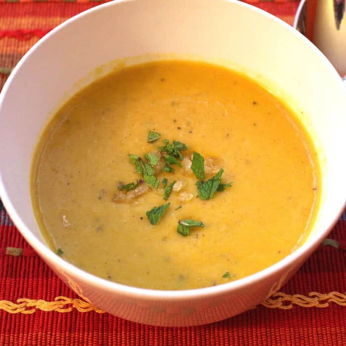 Gingery Buttercup Squash Soup. So yummy!