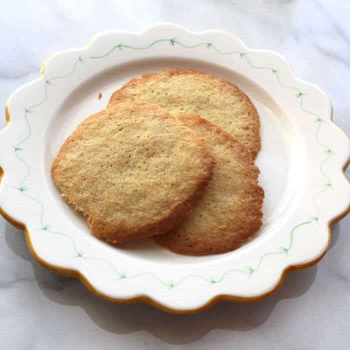 Gluten Free Danish Sugar Cookies, made with 2 cups of flour. They turned out flat but tasty.