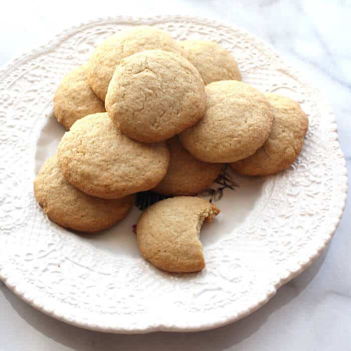 Gluten Free Danish Sugar Cookies—the way they should look. This version used 3 cups of flour and baked the cookies for 10 minutes.