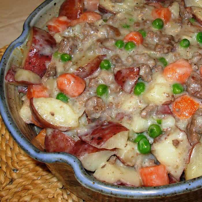 Hamburger Potato Carrot Hotdish