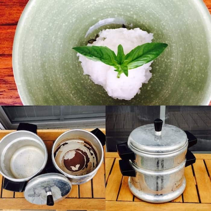 ld-fashioned double boiler Rice Cooker and Sticky Rice.
