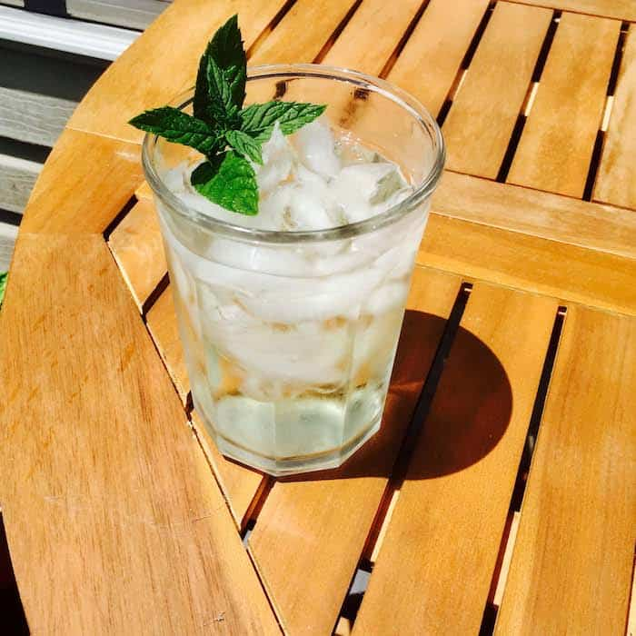 Refreshing Homemade Iced Mint Tea. Easy, cheap, delicious. No calorie!