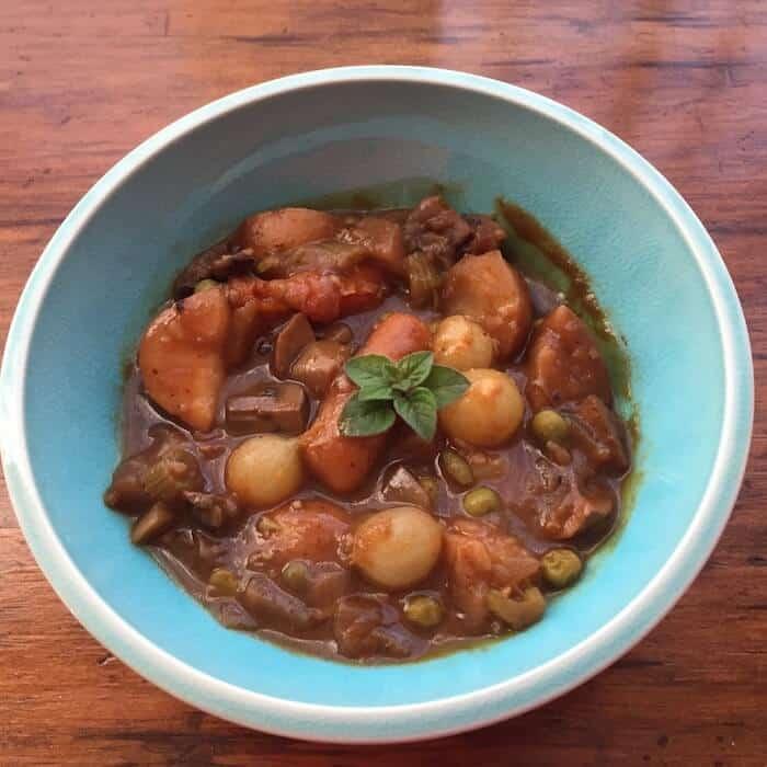Instant Pot Vegetarian Bourguignon