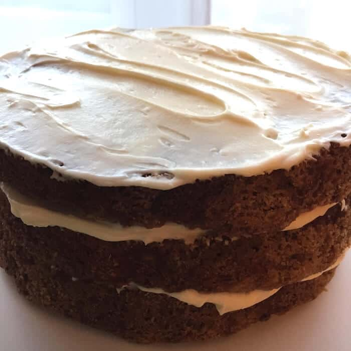 Some people (me!) like lots of frosting on My Best Carrot Cake, but others don't. You can frost the sides or leave them plain. It's scrumptious either way.
