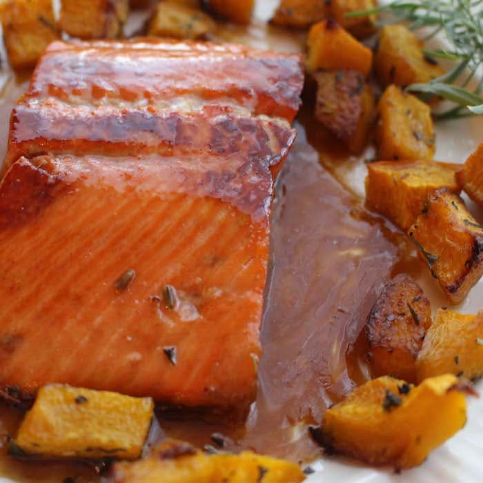 Sweet Bourbon Salmon is bursting with flavor.