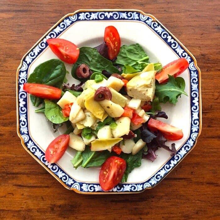 Hearts of Palm Salad, a South Beach Salad