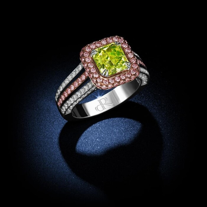 fancy-intense-yellow-green-radiant-cut-diamond-ring