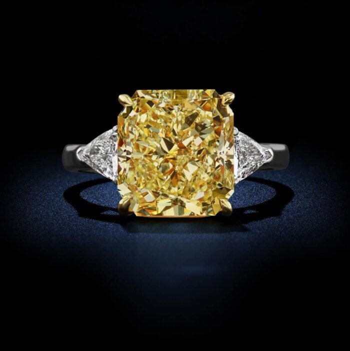 large-natural-fancy-intense-yellow-diamond-radiant-cut-diamond-platinum-ring