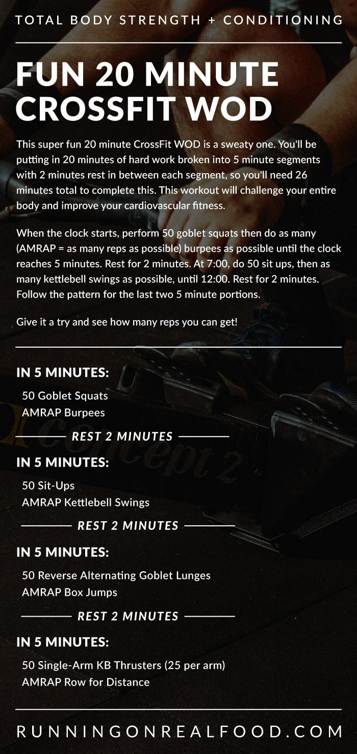 20 Minute CrossFit WOD For Strength and Conditioning - Running on Real Food Workouts