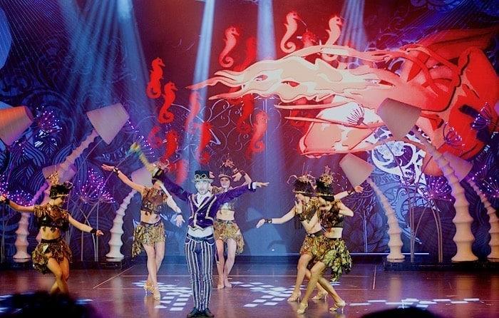 ショーの一場面の画像