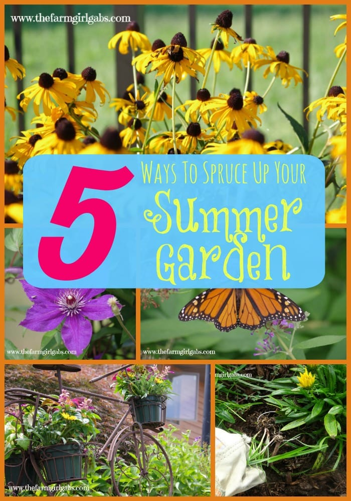 5 Great tips to help you spruce up your summer flower gardens.