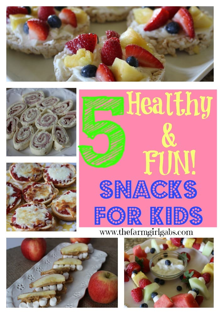 5 Healthy & Fun Snacks for Kids from How Does Your Garden Grow? {www.thefarmgirlgabs.com}