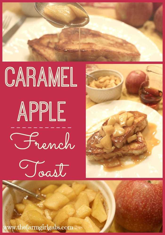 Caramel Apple French toast is a delicious breakfast recipe that is perfect any time of year.