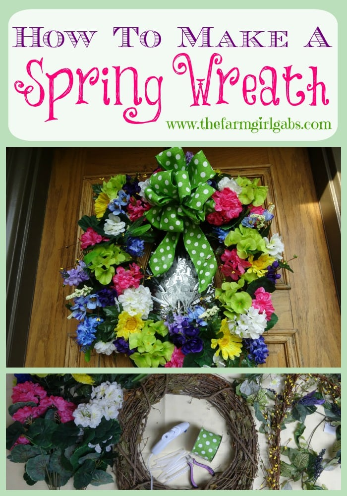 DIY Spring Wreath - Pinterest