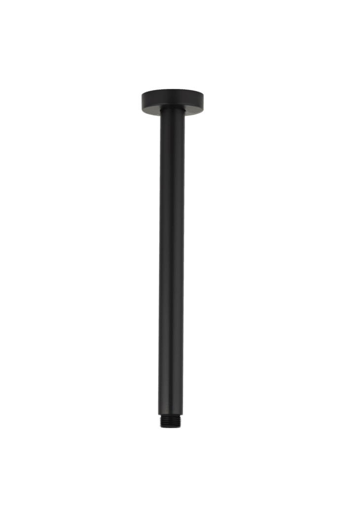 Nava Shower Dropper Round 300mm - Matte Black