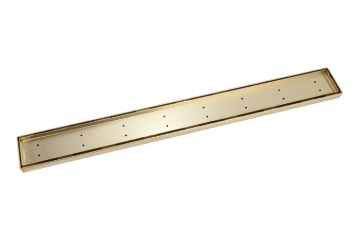 Pixi Tile Insert Shower Channel Waste 900mm - brass