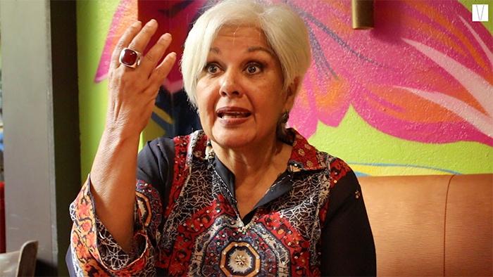 Lucy Freitas interpreta Dercy Gonçalves