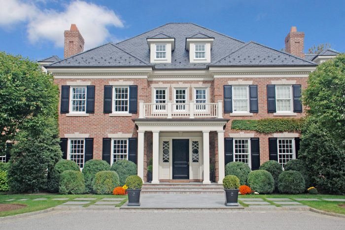 georgian colonial entry greenwich ct by demotte architects