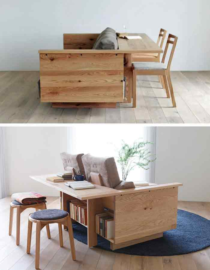 Sofa and desk table in one
