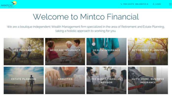 Mintco Financial's website