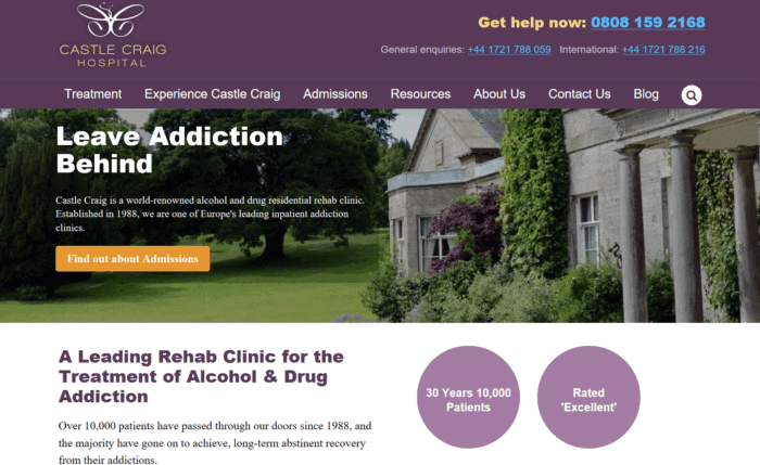 Castle Craig hospital for addiction treatment