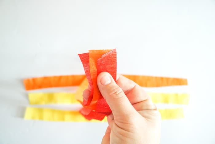 folded crepe paper