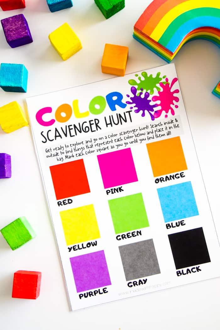 Rainbow Scavenger Hunt Ideas