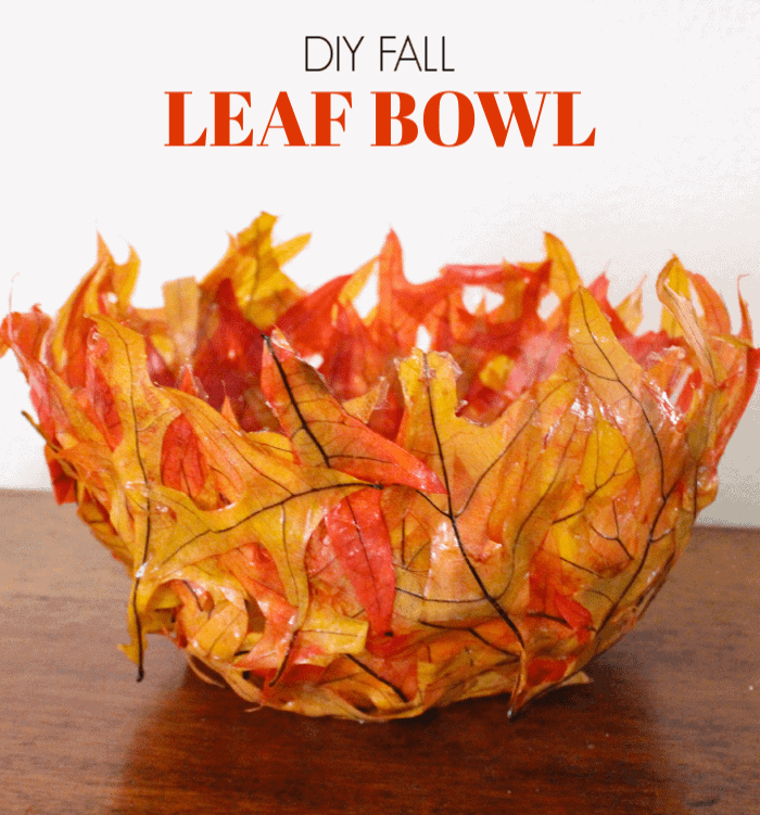Leaf Bowl DIY. Fall crafts for the kids. Crafting with Fall Leaves. Autumn crafts for kids with leaves.