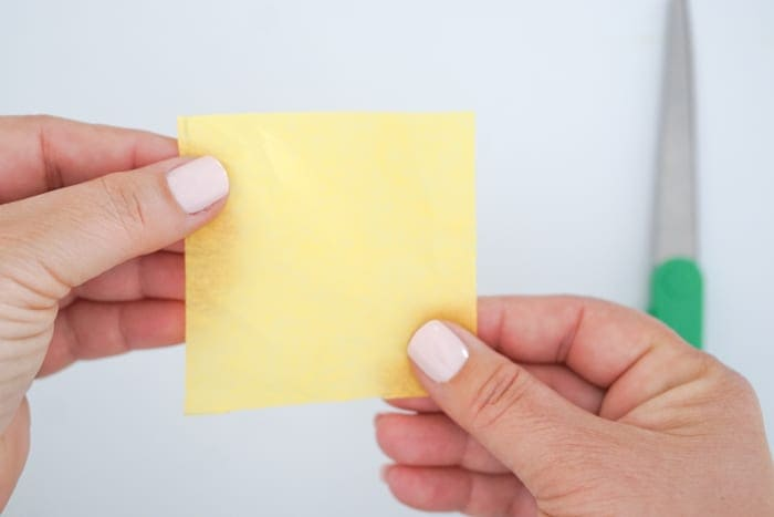 3 inch square of tissue paper