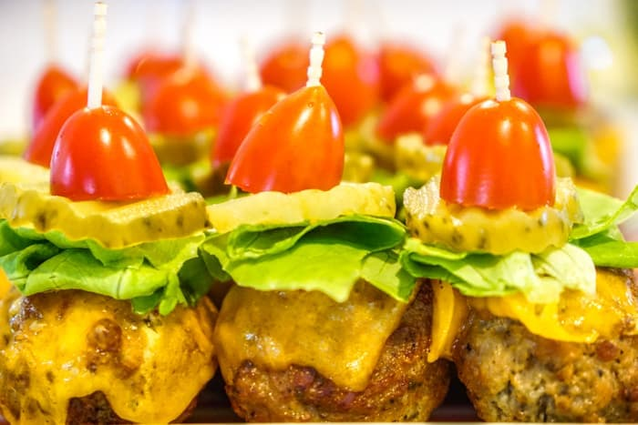 appetizer meatballs. These cheeseburger meatballs are our favorite cocktail meatball recipes. Serve these mini burgers or any cocktail meatball at your Superbowl party.