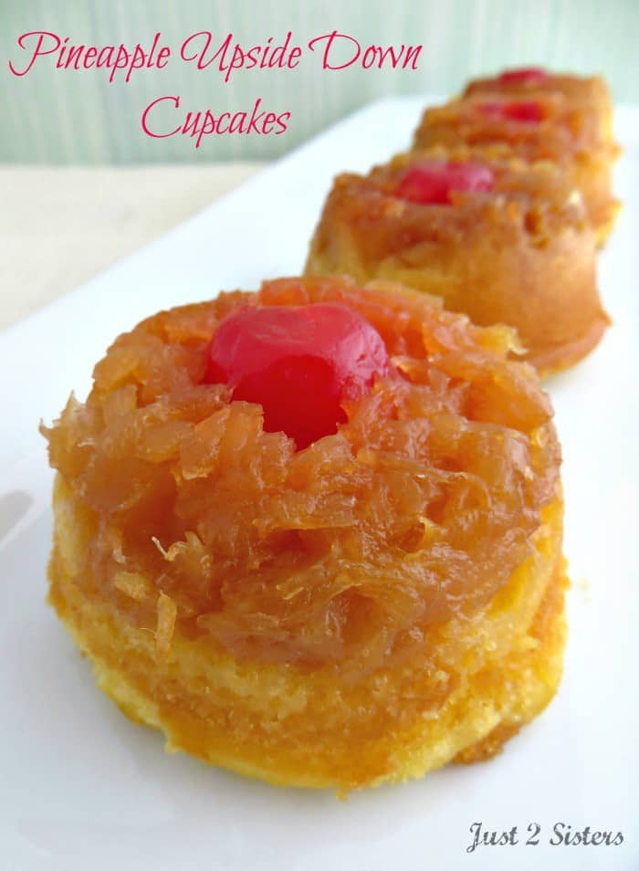 Pineapple Upside Down Cupcakes are all the rage! These baby cakes are being served everywhere.
