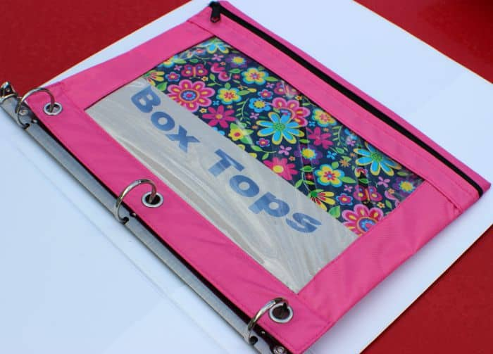 Box Tops Pouch in Binder